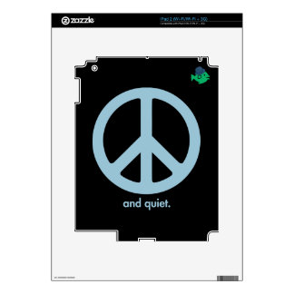 CRAZYFISH peace and quiet Decal For The iPad 2