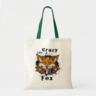 crazyfoxtee tote bag