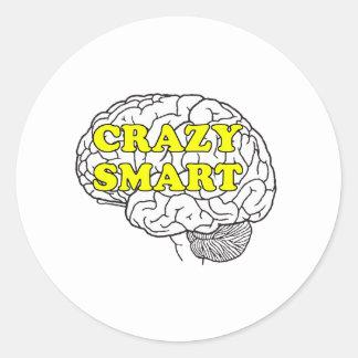 crazysmart classic round sticker
