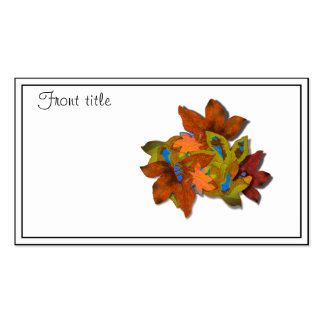 Cre8tive Fall Leaves Business Card Template