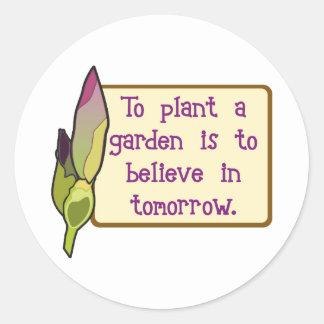 Crea adentro mañana pegatinas redondas