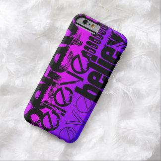 Crea; Azul violeta y magenta vibrantes Funda Para iPhone 6 Barely There