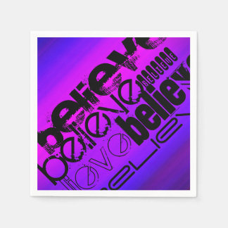 Crea; Azul violeta y magenta vibrantes Servilleta De Papel