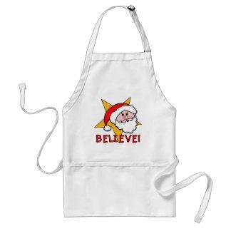 ¡Crea Con el dibujo animado de Santa en camisetas Delantal