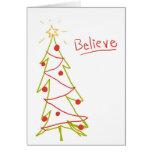 Crea el árbol de navidad felicitaciones