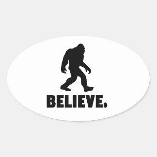 Crea el   Bigfoot el   Sasquatch Pegatina Ovalada