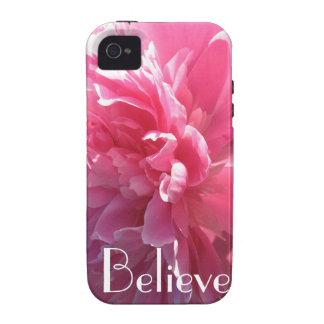 Crea el caso rosado del iPhone 4 del Peony iPhone 4/4S Carcasa