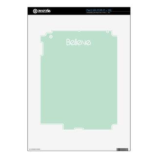 Crea - el color de cristal del borde del mar calcomanía para iPad 2