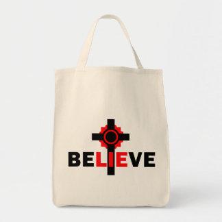 Crea el diseño ateo de las MENTIRAS Bolsa De Mano