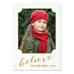 Crea el oro de la tarjeta el   de la foto del día invitación 12,7 x 17,8 cm