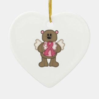Crea el oso el marrón ornamento de navidad