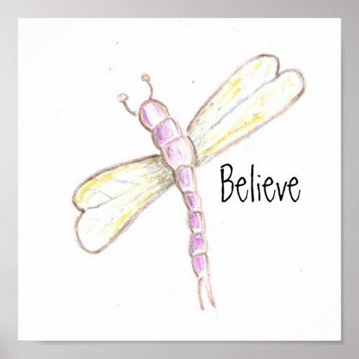 Crea el poster de la libélula
