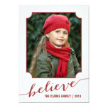 Crea el rojo de la tarjeta el   de la foto del día invitación 12,7 x 17,8 cm