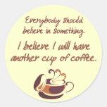Crea en café etiquetas redondas