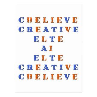 Crea en crucigrama de la idea tarjeta postal