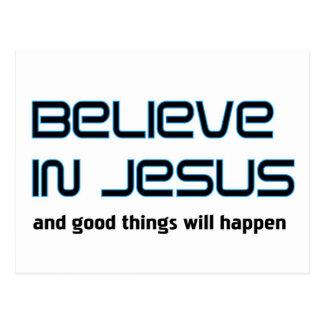 Crea en decir cristiano de Jesús Tarjeta Postal