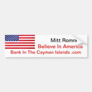 Crea en el banco de América en las Islas Caimán .c Pegatina De Parachoque