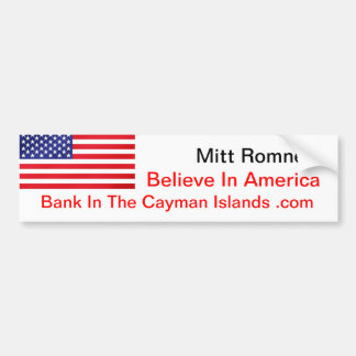 Crea en el banco de América en las Islas Caimán .c Pegatina Para Auto