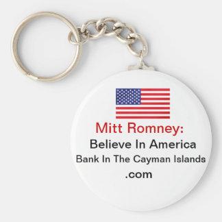 Crea en el banco de América en las Islas Caimán Llavero Redondo Tipo Pin