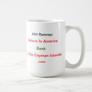 Crea en el banco de América en las Islas Caimán Taza Básica Blanca