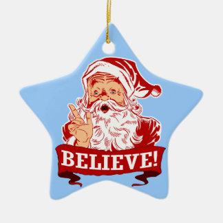 Crea en el navidad de Papá Noel Ornamente De Reyes
