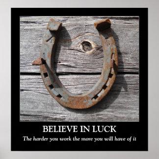 Crea en el poster de motivación de herradura de la póster
