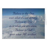 Crea en el Sun Tarjeta