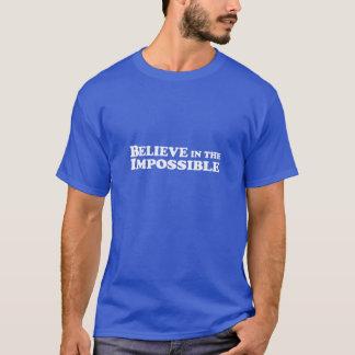 Crea en imposible - camiseta AZUL básica