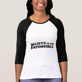 Crea en imposible - las señoras 3/4 raglán de la playera