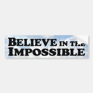 Crea en imposible - pegatina para el parachoques pegatina para auto