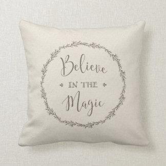 crea en la almohada mágica del navidad cojín decorativo
