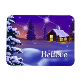 Crea en la magia del navidad. Imán