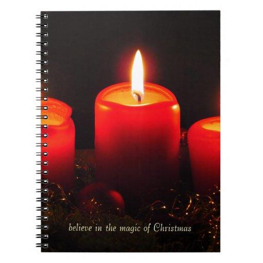 Crea en la magia del navidad libros de apuntes