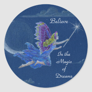 Crea en la magia del pegatina de la hada de los