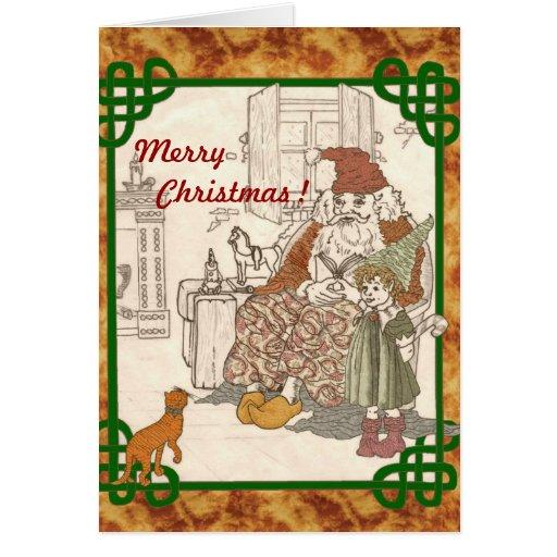 Crea en la tarjeta de Papá Noel