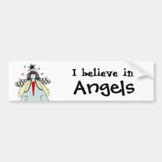 Crea en los ángeles - dibujo remilgado del ángel d pegatina de parachoque