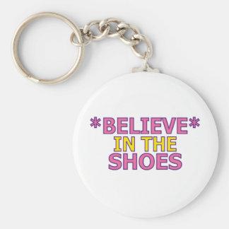 Crea en los zapatos (Oudin) Llavero Redondo Tipo Pin