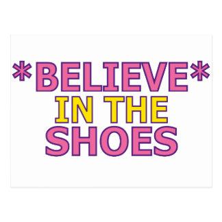Crea en los zapatos (Oudin) Tarjetas Postales
