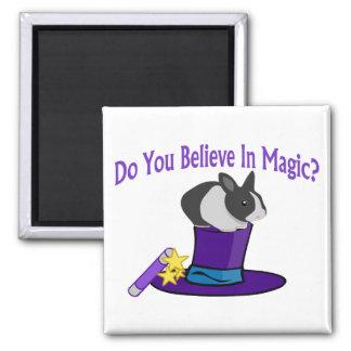 Crea en magia imán cuadrado