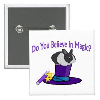 Crea en magia pin cuadrado