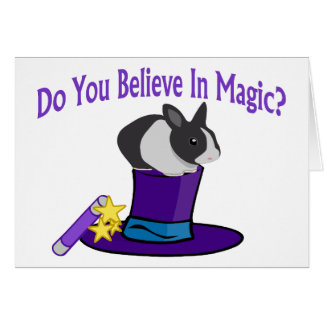 Crea en magia tarjeta de felicitación