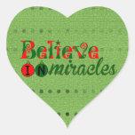 Crea en milagros colcomanias corazon