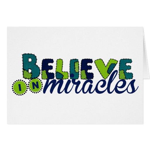 Crea en milagros tarjeta