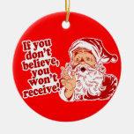 Crea en Papá Noel Ornamento Para Arbol De Navidad