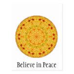 Crea en paz tarjetas postales