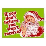 Crea en Santa, navidad Felicitaciones