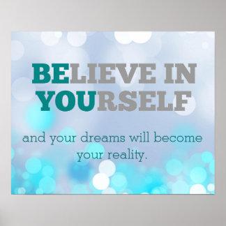 Crea en sí mismo el poster