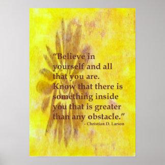 Crea en sí mismo el poster de motivación