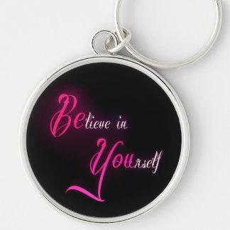 Crea en sí mismo - esté usted cita femenina del ta llavero