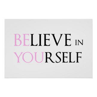 Crea en sí mismo - esté usted meme de la cita de l poster
